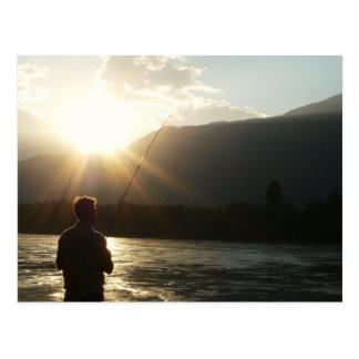 Fishing in a Sunbeam Postcard