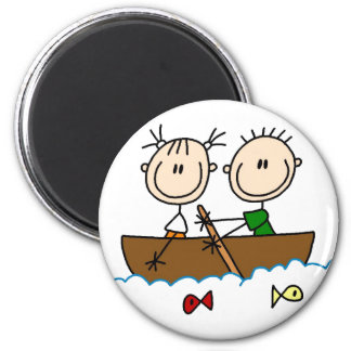 Fishing In Boat Stick Figure Magnet