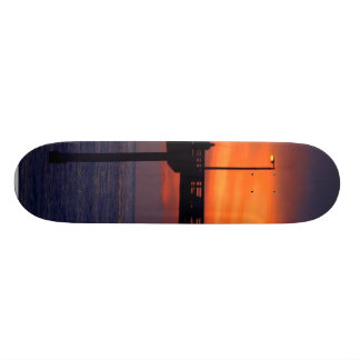 Fishing In Ocean Beach Custom Skate Board