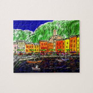 fishing in portofino, italy jigsaw puzzle