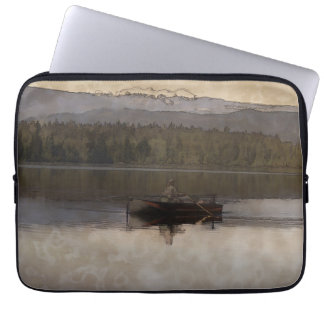 Fishing in Silence Laptop Sleeves