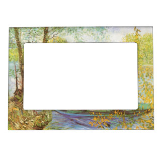 Fishing in Spring by Vincent van Gogh Frame Magnets