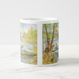 Fishing in Spring by Vincent van Gogh Giant Coffee Mug