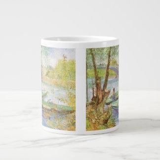 Fishing in Spring by Vincent van Gogh Large Coffee Mug