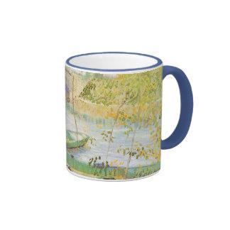 Fishing in Spring by Vincent van Gogh Ringer Mug