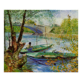Fishing in Spring by Vincent van Gogh Poster