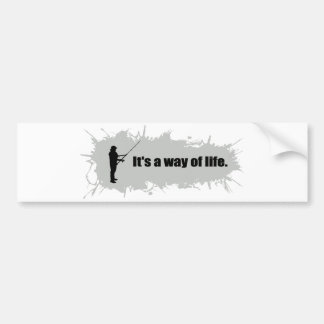 Fishing Is a Way of Life Bumper Sticker