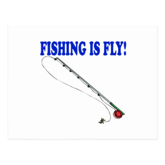 Fishing Is Fly Postcards