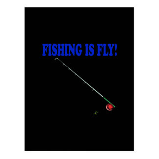 Fishing Is Fly Postcard