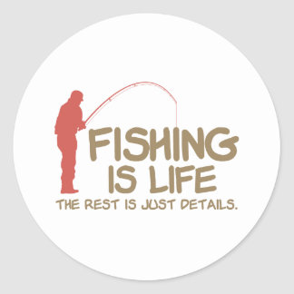 Fishing Is Life Round Sticker