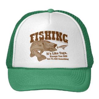 Fishing: It's like Yoga, except you kill something Cap