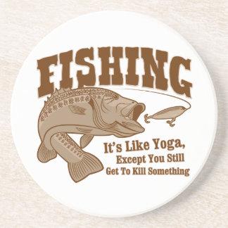 Fishing: It's like Yoga, except you kill something Drink Coasters