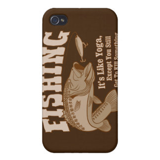 Fishing: It's like Yoga, except you kill something iPhone 4 Cover