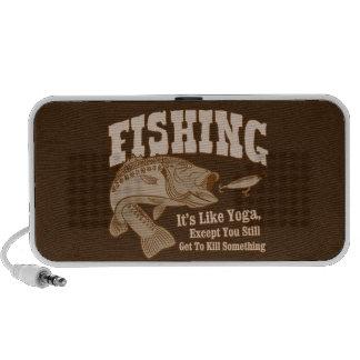 Fishing: It's like Yoga, except you kill something Laptop Speaker