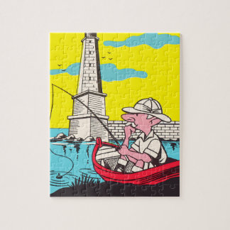 Fishing Jigsaw Puzzle with Gift Box