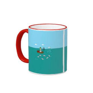 Fishing joke with dynamite ringer mug
