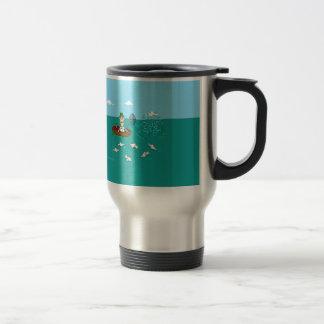 Fishing joke with dynamite stainless steel travel mug