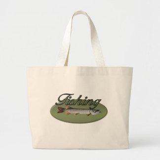 Fishing Jumbo Tote Bag