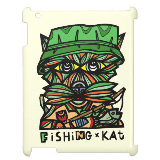 """Fishing Kat"" 631 Art iPad Case"