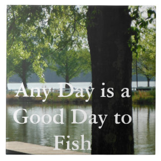 Fishing Lake Decorative Tile Fathers Day Gifts 8
