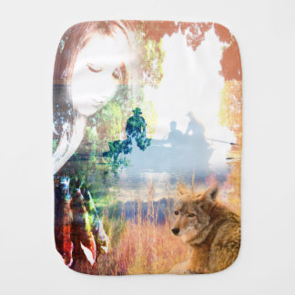 Fishing Landscapes North American Park Outdoor Cam Burp Cloths