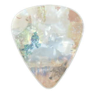 Fishing Landscapes North American Park Outdoor Pearl Celluloid Guitar Pick