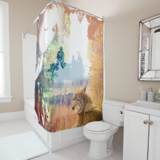 Fishing Landscapes North American Park Outdoor Shower Curtain