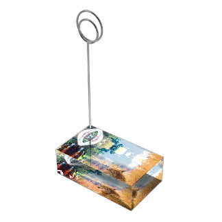 Fishing Landscapes North American Park Outdoor Table Card Holder