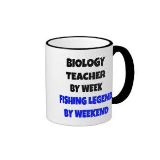 Fishing Legend Biology Teacher Ringer Mug