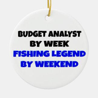 Fishing Legend Budget Analyst Christmas Ornament
