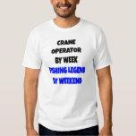 Fishing Legend Crane Operator Tee Shirt