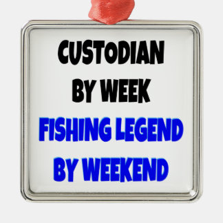 Fishing Legend Custodian Christmas Ornament