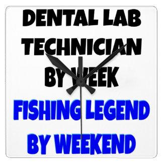 Fishing Legend Dental Lab Technician Clocks