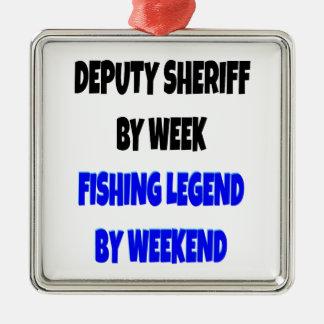Fishing Legend Deputy Sheriff Christmas Ornament