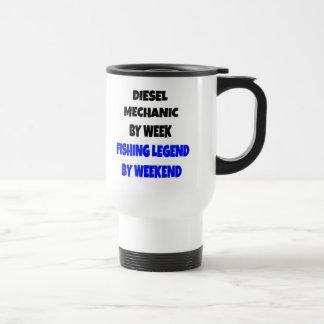 Fishing Legend Diesel Mechanic Coffee Mugs