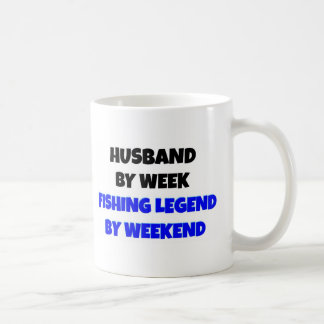 Fishing Legend Husband Basic White Mug