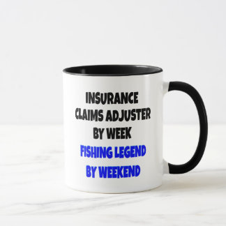 Fishing Legend Insurance Claims Adjuster Mug