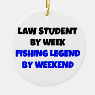 Fishing Legend Law Student Christmas Ornament