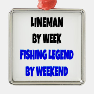 Fishing Legend Lineman Christmas Ornament
