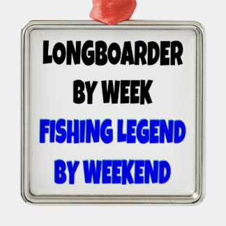 Fishing Legend Longboarder Christmas Ornament