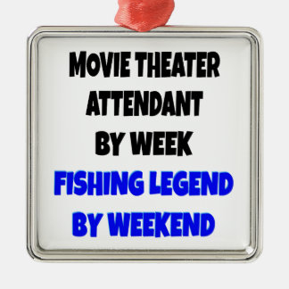 Fishing Legend Movie Theater Attendant Christmas Ornament