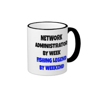 Fishing Legend Network Administrator Ringer Mug
