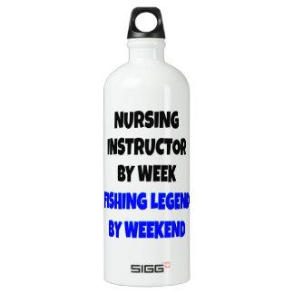 Fishing Legend Nursing Instructor Water Bottle
