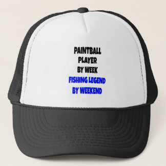 Fishing Legend Paintball Player Trucker Hat