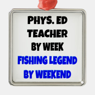Fishing Legend Physical Education Teacher Christmas Ornament