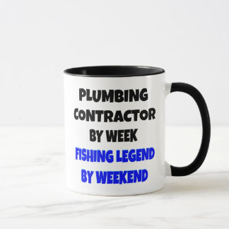 Fishing Legend Plumbing Contractor Mug