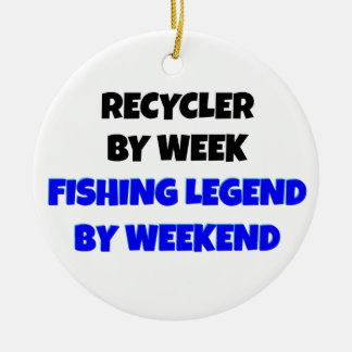 Fishing Legend Recycler Christmas Ornament