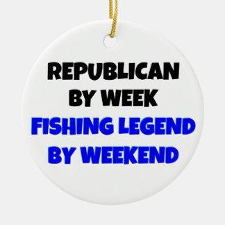 Fishing Legend Republican Christmas Ornament