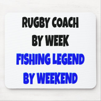 Fishing Legend Rugby Coach Mouse Mat