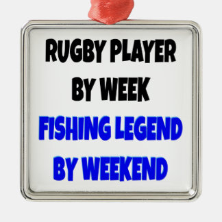 Fishing Legend Rugby Player Christmas Ornament
